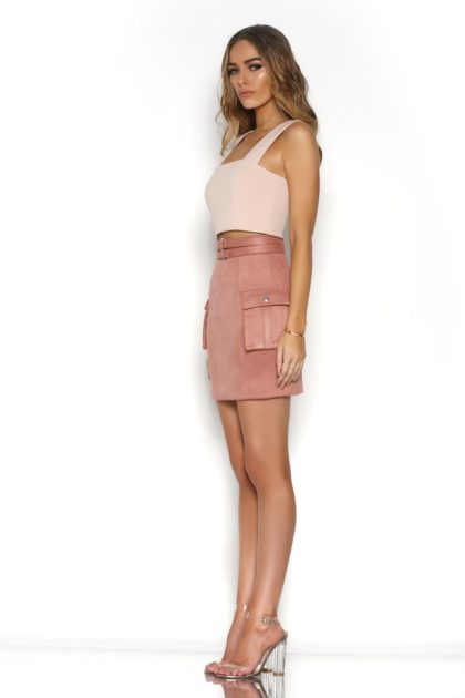 BR16-4029_BLAME_CROP_-_WHITE_BR16-1006_BEYOND_SUEDE_MINI_SKIRT_-_ROSE_-_2