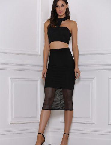 Baker Mesh Skirt - Black 1