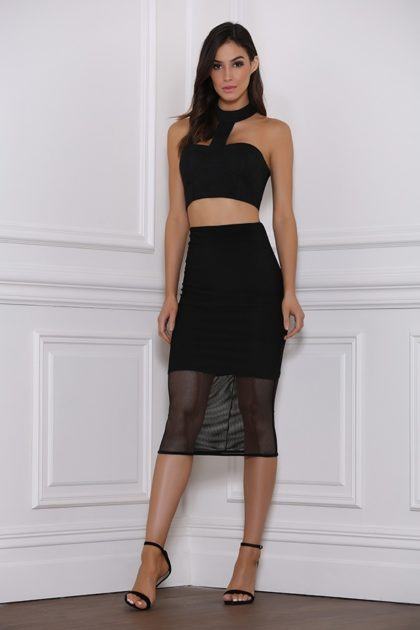 Baker Mesh Skirt – Black 1