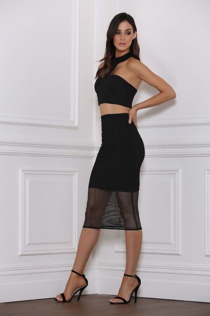 Baker Mesh Skirt – Black 2