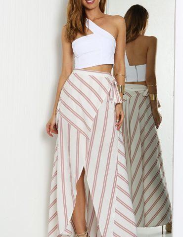 Cascade Maxi Skirt - Pink 1