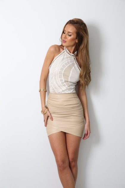 Dusty Road Skirt – Nude 2