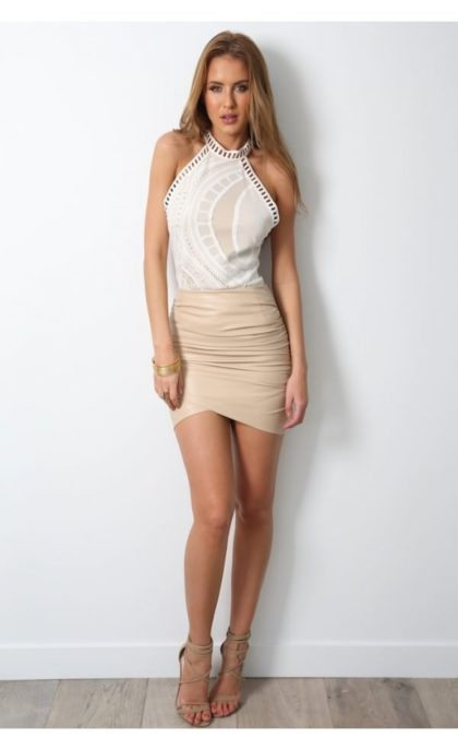 Dusty Road Skirt – Nude 3