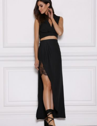 Emerge Maxi Skirt - Black 1