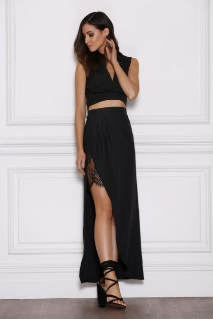 Emerge Maxi Skirt – Black 1
