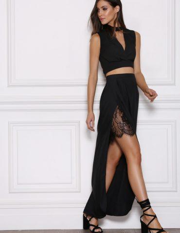 Emerge Maxi Skirt - Black 2