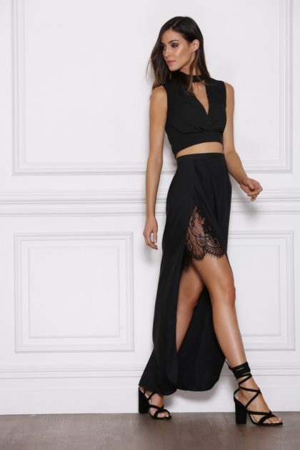 Emerge Maxi Skirt – Black 2