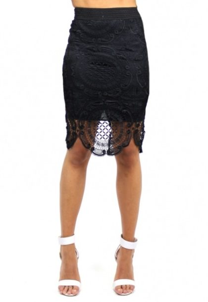 Gemini Lace Skirt – Black 1