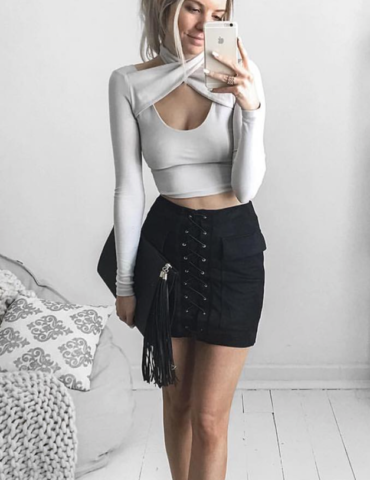Jackie Skirt - Black 1