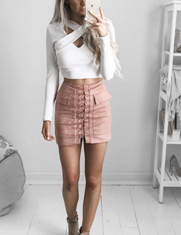 Jackie Skirt - Rose 1