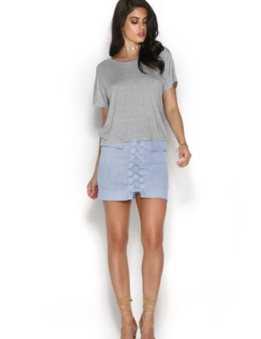 Jackie Skirt - Sky Blue 1