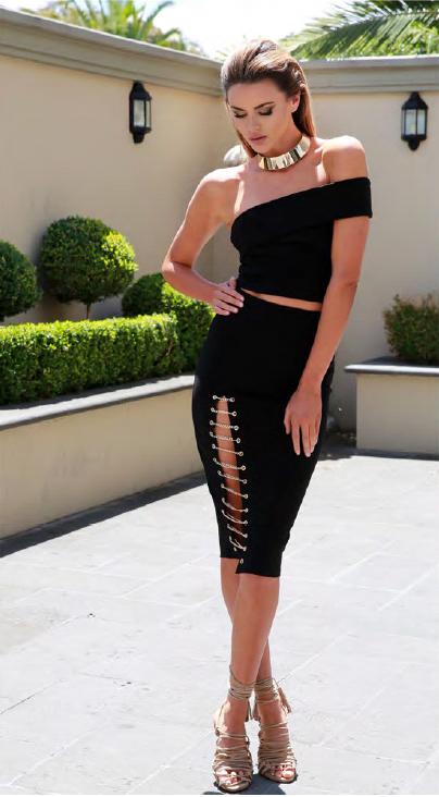 Kenza Chain Skirt – Black 3