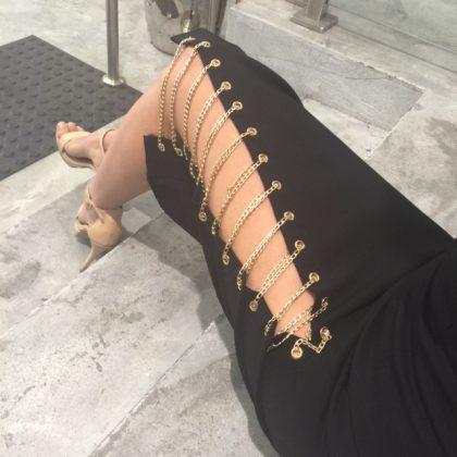 Kenza Chain Skirt – Black 5
