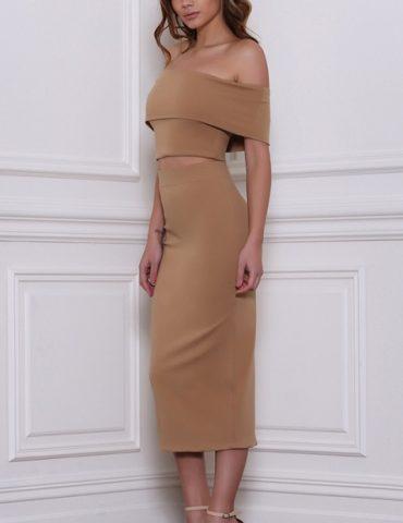 Reckless Skirt - Tan 1