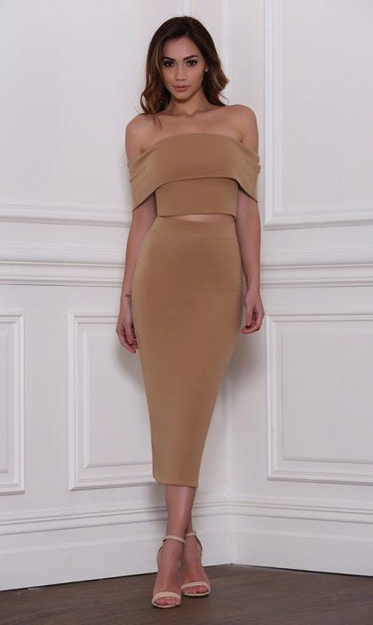 Reckless Skirt – Tan 2