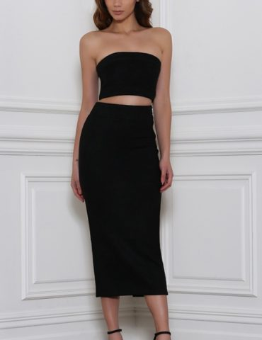 Rhythm Suede Skirt - Black 1