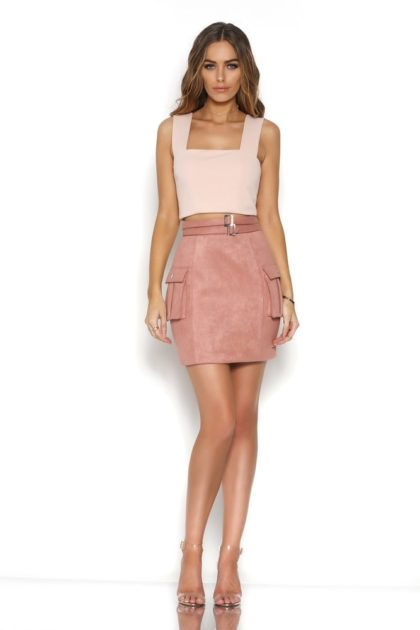 BR16-4029_BLAME_CROP_-_WHITE_BR16-1006_BEYOND_SUEDE_MINI_SKIRT_-_ROSE_-_1