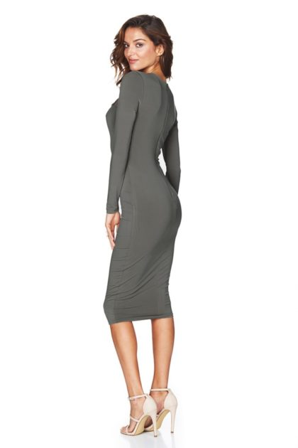 GALAXY-LONG-SLEEVE-DRESS-OLIVE-B