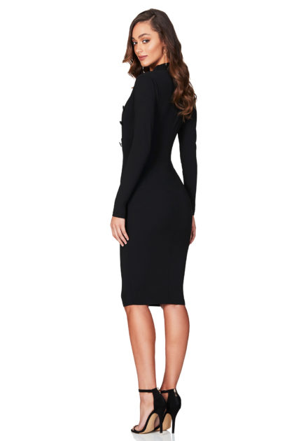 LOPEZ-LONG-SLEEVE-MIDI-BLACK-B