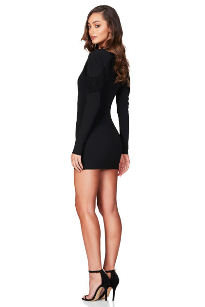 MENDEZ-LONG-SLEEVE-MINI-BLACK-B