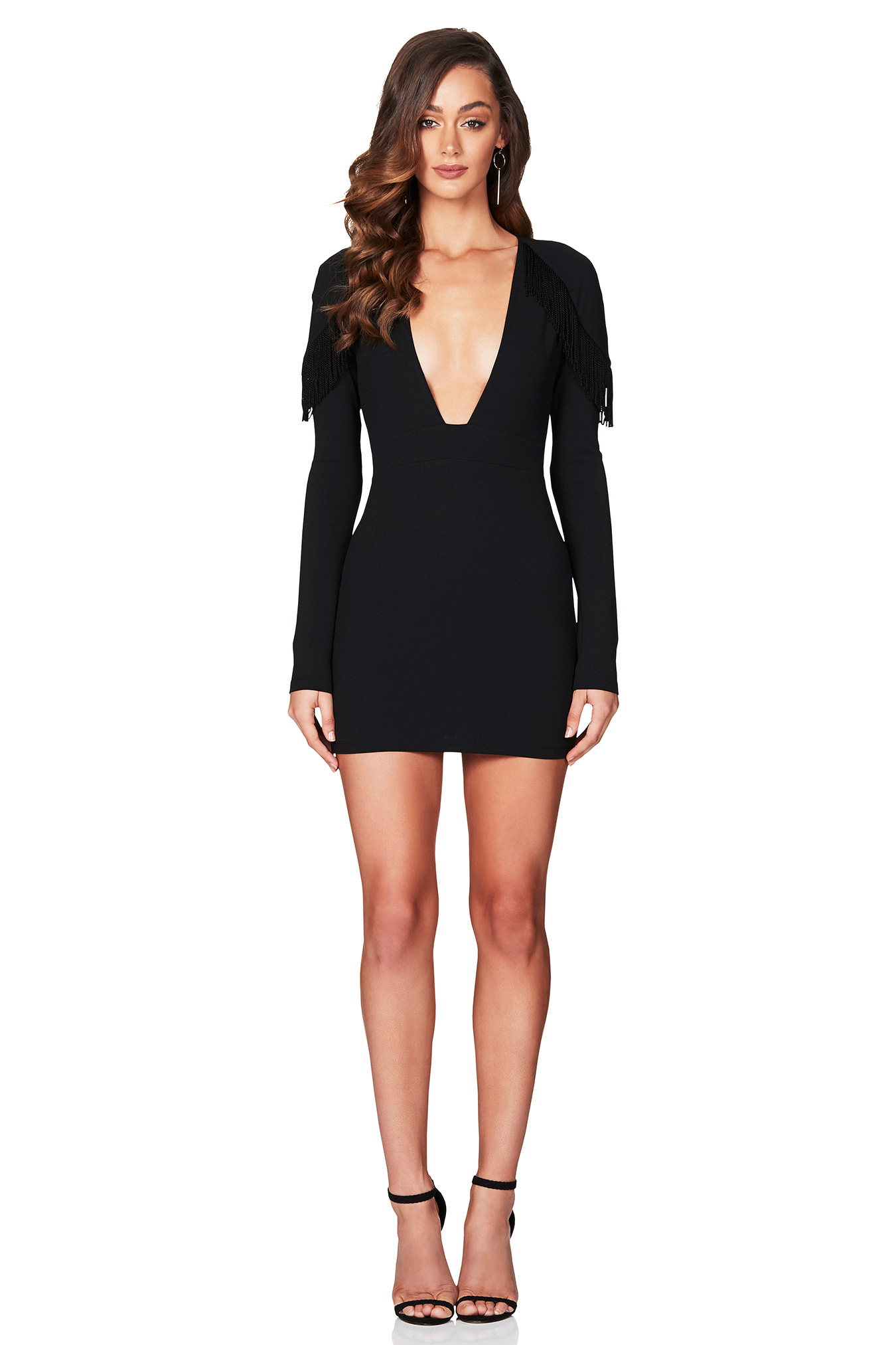 991e9c771b3 Mendez Long Sleeve Mini Dress – Black – Goddess Kleopatra