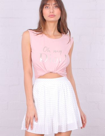TF6781 oh my dior! sleeveless buttons detail top pink 1