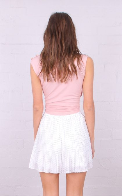 TF6781 oh my dior! sleeveless buttons detail top pink 2